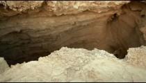 Stock Footage of a crevasse in the desert floor in Israel.