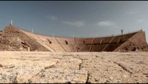 Stock Footage of the theater at Caesarea in Israel.