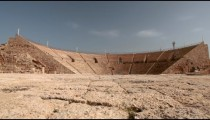 Stock Footage of the theater seating at Caesarea in Israel.