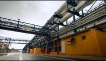 Stock Footage of the pipeline structure at a desalination plant in Israel.