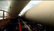 Stock Footage of a desalination plant's large, white pipes in Israel.