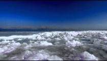 Stock Footage of the salty shores of the Dead Sea in Israel.