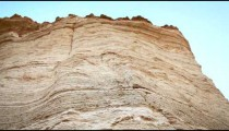 Stock Footage of a desert rock formation in Israel.