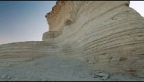 Stock Footage of a layered desert rock formation in Israel.