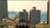 Tel Aviv cityscape with the Mediterranean shot in Israel.