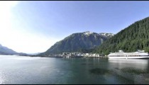 Time lapse view of the Juneau cruise ship port