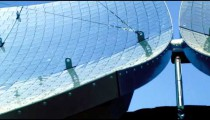 Solar panel dishes shot in Israel.