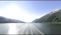Traveling view of the Inside Passage in Alaska