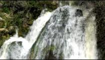 Panning shot of Top of Tahana Waterfall shot in Israel.