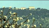 Panning shot of Mount Tabor shot in Israel.