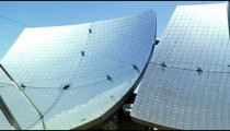 Panning shot of A solar panel shot in Israel.
