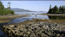 Time-lapse of a stream entering into the ocean near Ketchikan, AK.