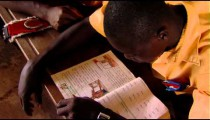 African student studying.