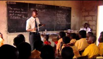 Royalty Free Stock Footage of A man teaching students in Africa.