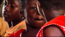 Royalty Free Stock Footage of Two girls at school in Africa.