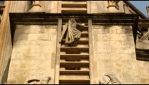 Sculpture of Jacob's ladder on a church in Bath, England.