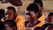 Royalty Free Stock Footage of African children in a classroom.