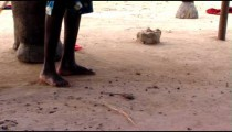 Royalty Free Stock Footage of African woman sweeping the ground.