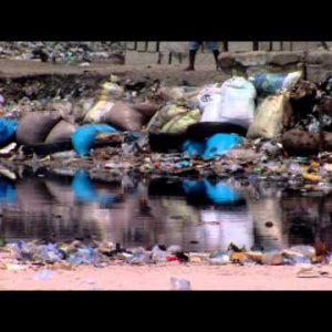 Garbage in water in Africa.