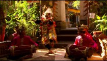 Young boy doing a native dance in Bali.