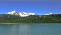 Traveling time-lapse of the mountains alongside Glacier Bay National Park, Alaska.