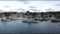 Panning shot of Rockport Harbor and Motif Number One.