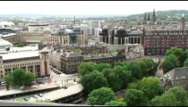 Cityscape of a city in England.