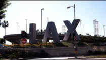 Clip of the Los Angeles Airport (LAX) sign.