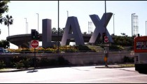 Shot of the Los Angeles Airport (LAX) sign.
