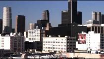 Shot of the Los Angeles skyline.