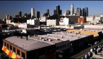 Skyline of Los Angeles California.
