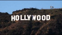Hollywood sign in California.