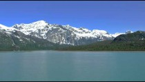 Traveling time-lapse filmed from a cruise ship in Glacier Bay, Alaska.