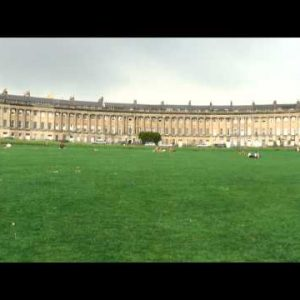 Houses of the Royal Crescent in Bath, England.