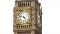 Close-up shot of Big Ben in London.