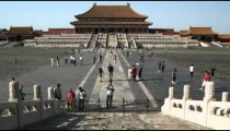Shot of the Forbidden City in China.
