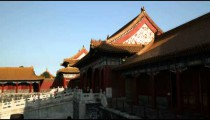 Wide shot of the Forbidden City in China.