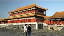 Building inside the Forbidden City in China.