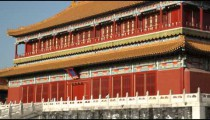 Shot of a building inside the Forbidden City in China.