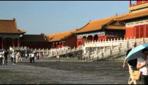 Shot of a corner of the Forbidden City in China.