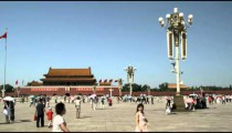 Panorama of Tiananmen Square in China.