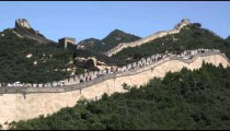 Great Wall of China in the Badaling section.