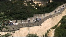 Shot of the Great Wall of China in the Badaling section.