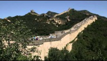Clip of the Great Wall of China in the Badaling section.