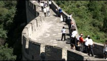 Panorama of the Great Wall of China at the Badaling section.
