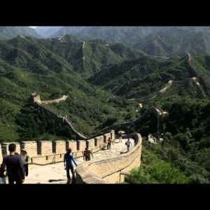 Clip of the Badaling section of the Great Wall of China.