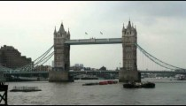 Shot of the Tower Bridge in London.
