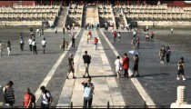 Panning up the Forbidden City in China.