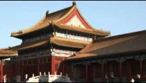 Close-up of a corner of the Forbidden City in China.