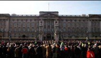Changing of the guards at Buckingham Palace in London.